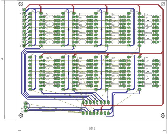 LED Cube Flip Flop Circuit Board